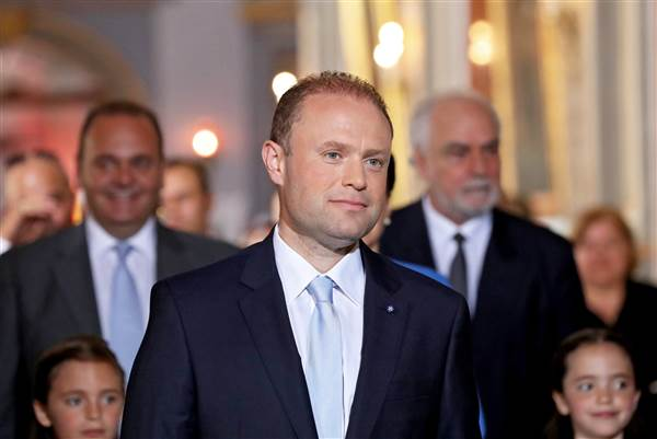 Image: Malta PM Muscat sworn-in after re-election